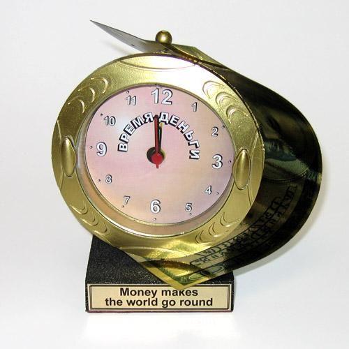 """Часы-будильник """"Время-деньги"""""""